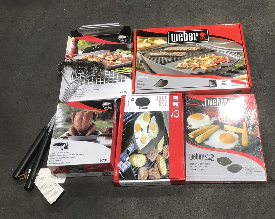 Weber Quantity of assorted Weber accessories comprising of: