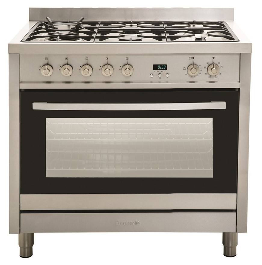 Euromaid EG90S 90cm Dual Fuel Upright Cooker