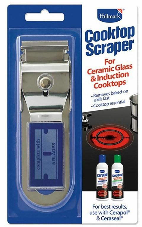 Hillmark H95 Cooktop Scraper for Ceramic Glass Cooktops