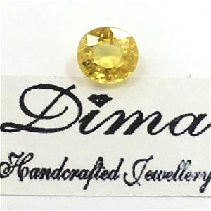 One Stone Yellow Sapphire 1.27ct in Tota