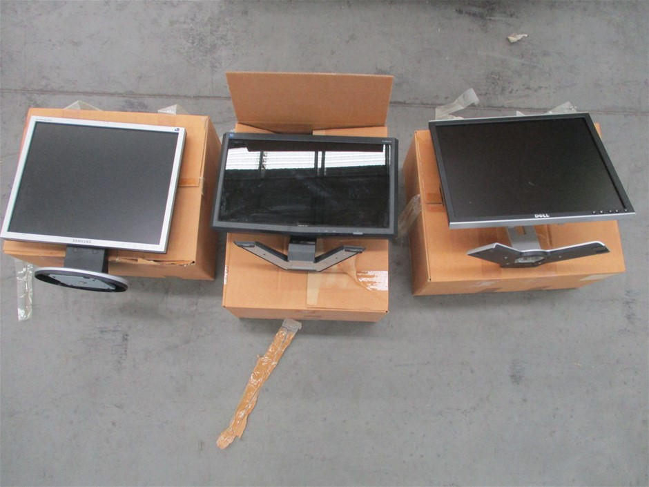 "Pallet of Assorted 19"" LCD Monitors Comprising:"