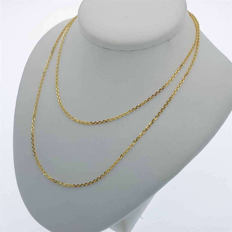 9ct Yellow Gold, 1.85g Italian Solid Chain Necklace