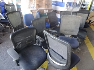 A Quantity of Assorted Office Chairs