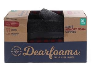 DEARFOAM`S Men`s Memory Foam Slippers, S