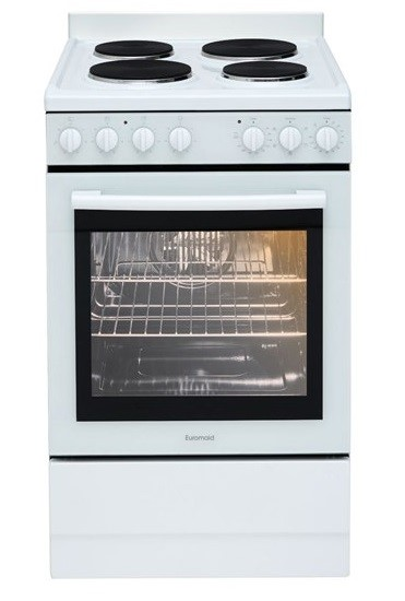 Euromaid EFF54W 54cm Freestanding Electric Oven/Stove