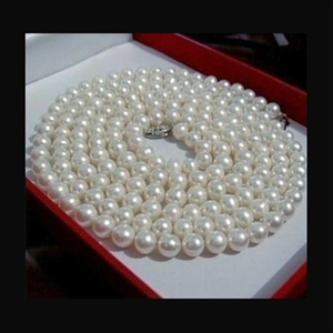 6-7mm white Akoya cultured pearl necklac