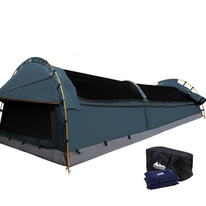 Weiss horn Double Size Canvas Tent- Navy