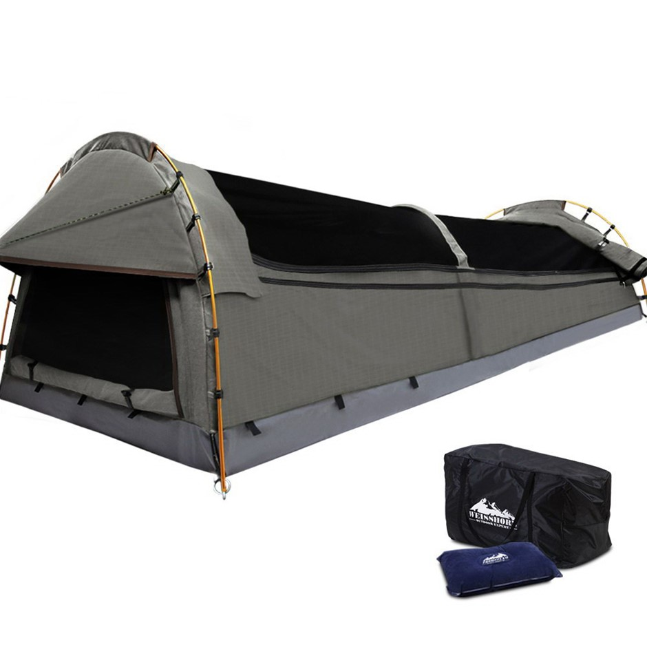 Weiss horn King Single Size Canvas Tent - Grey