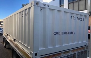 12m x 40ft container shelter | Graysonline