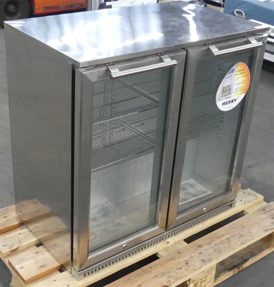 Husky ALF-C2-840 190 litre Double Door Alfresco Bar Fridge