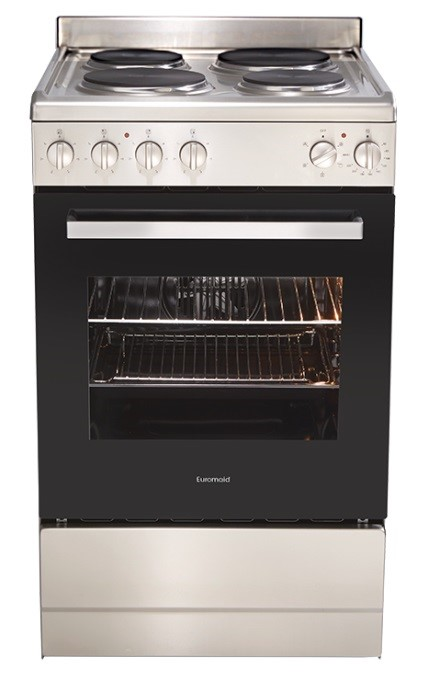 Euromaid EFF54SS Electric Single Cavity Oven + Solid Cooktop