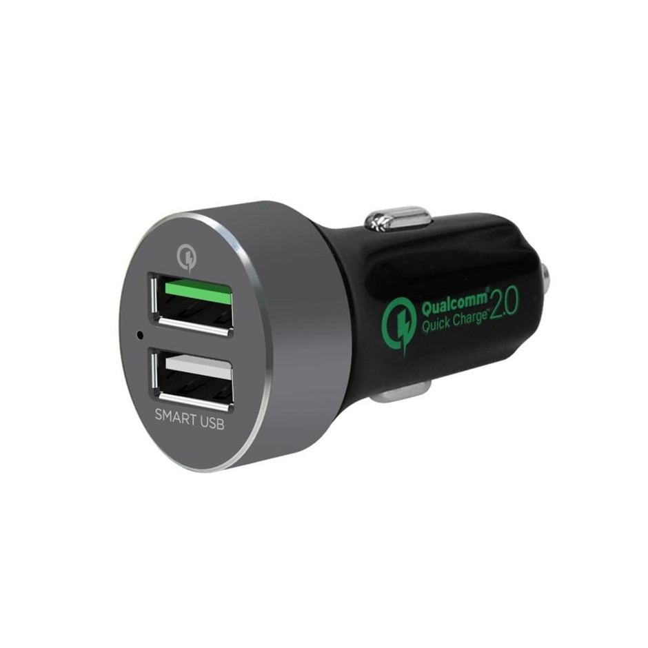 mbeat MB-CHGR-QBS QuickBoost S Quick charge 2.0 and Smart USB Car Charger