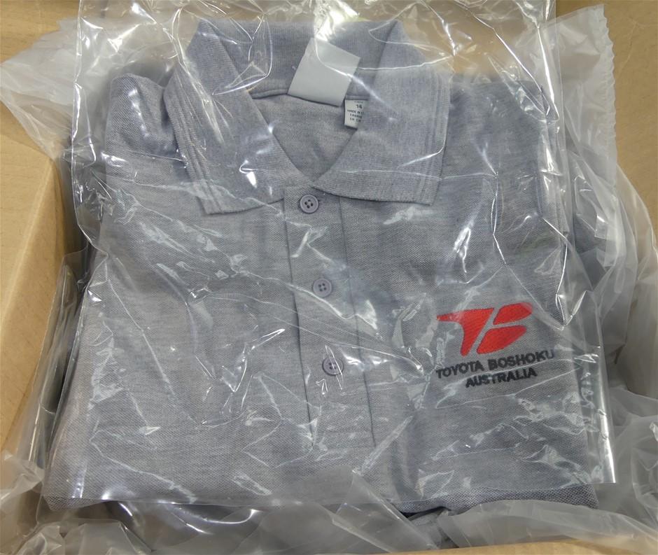 14 x Biz Collection Short Sleeves Polo Shirts, P800B, Gray Marle, Size 14