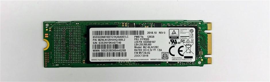 Samsung M.2 2280 SATA 128GB Solid State Drive P/N: MZNLN128HAHQ-000L2