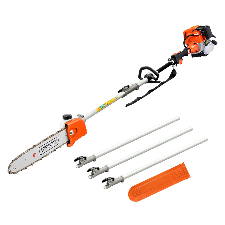 Giantz 4 Stroke Pole Chainsaw Petrol Chain Saw Brush Cutter Tree