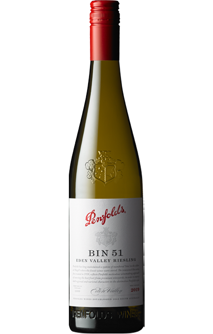 Penfolds Bin 51 Eden Valley Riesling 2019 (6 x 750mL),SA.