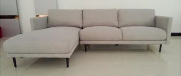 NEWTON Left Hand Facing Chaise and Right Hand Facing Sofa in Dark Grey