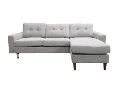 Edison Sofa With Interchangable Chaise in Steel