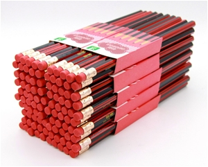 100 HB wood pencils with eraser top for