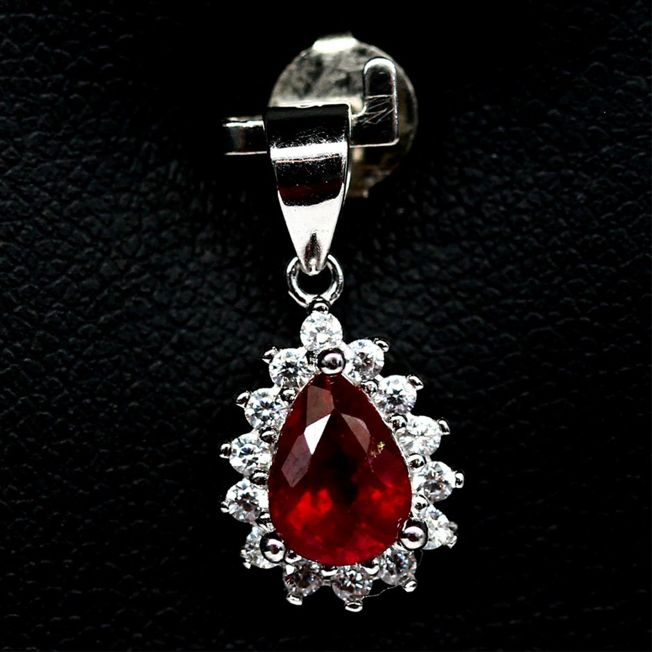 Gorgeous Genuine Blood Red Ruby Pendant