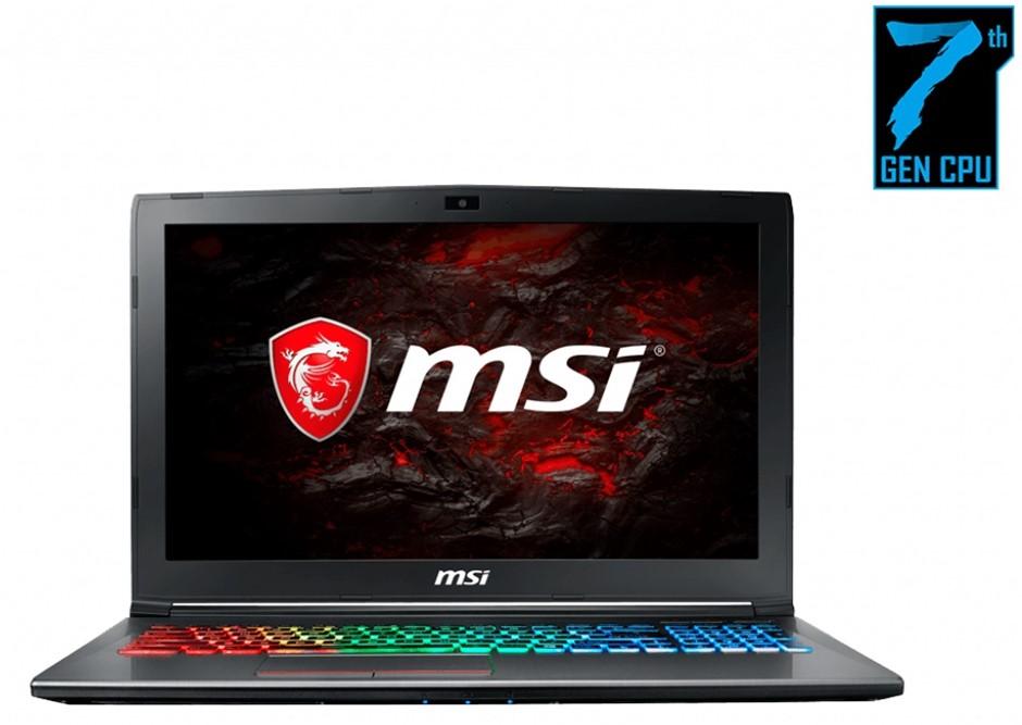 """MSI GF62 7RD-1806AU 15.6"""" FHD/i7/16GB/128GB SSD + 1TB HDD/GTX 1050"""