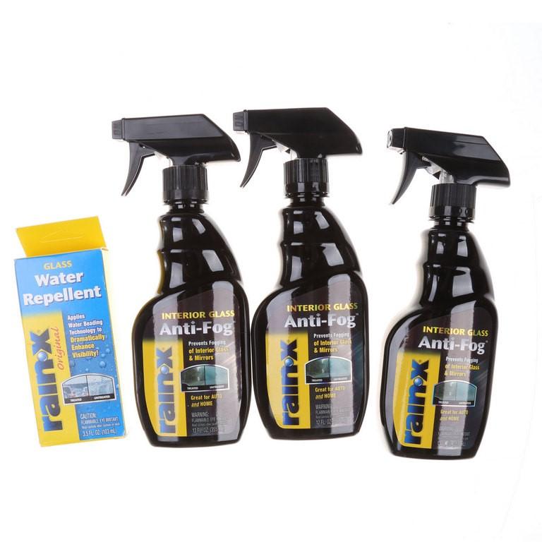 3 x RAINOX Anti-Fog 355ml & 1 x RAINOX Glass Water Repellent 103ml. (SN:CC4