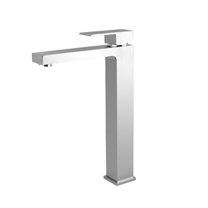 Solid Brass Square Chrome Tall Basin Mix