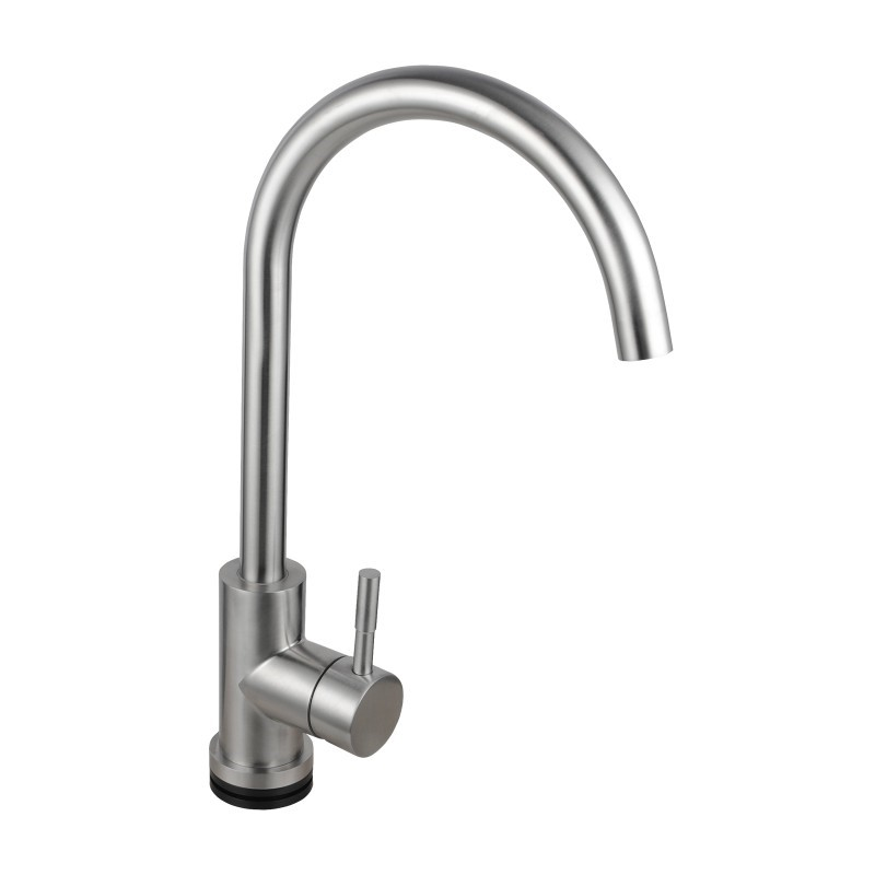 Round Brushed 360° Swivel Smart Touch Kitchen Sink Mixer Tap