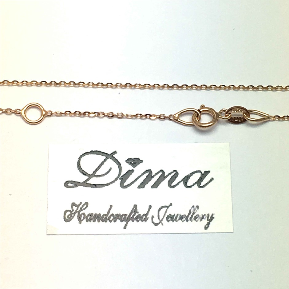 18 Karat Italian Rose Gold Chain Necklace