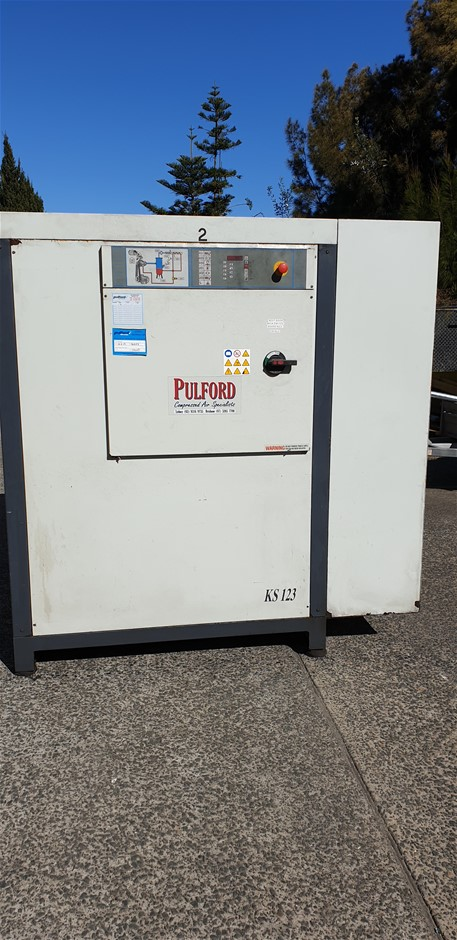 Pulford Packaged Silenced Air Compressor Model: KS123 Serial Numb