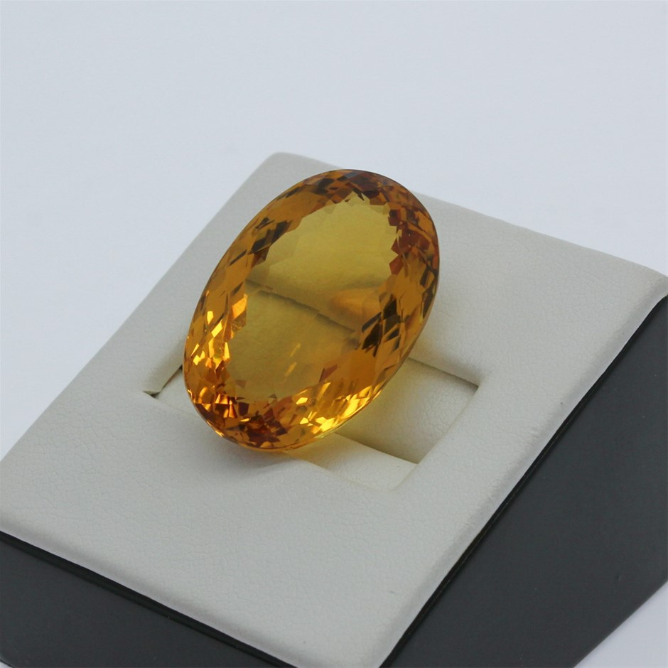 One Loose Citrine, 28.40ct in Total