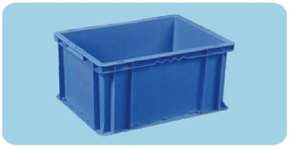Plastic Stackable Container, 400 x 300 x 215m Blue, Carton of 6