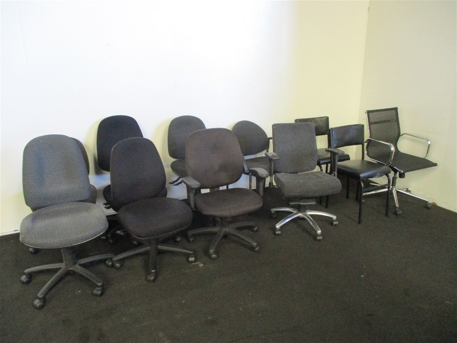 Qty 11 x Assorted Office Chairs
