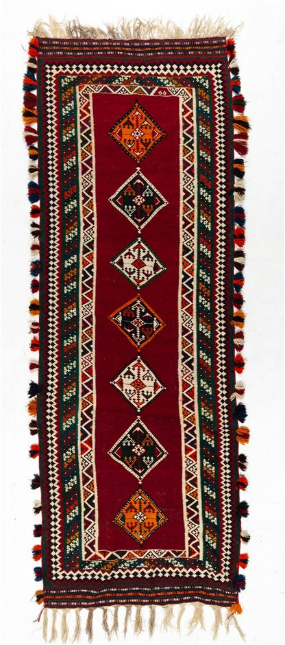Hand Knotted Flat Weave Kilim Rug Size (cm): 131 x 370