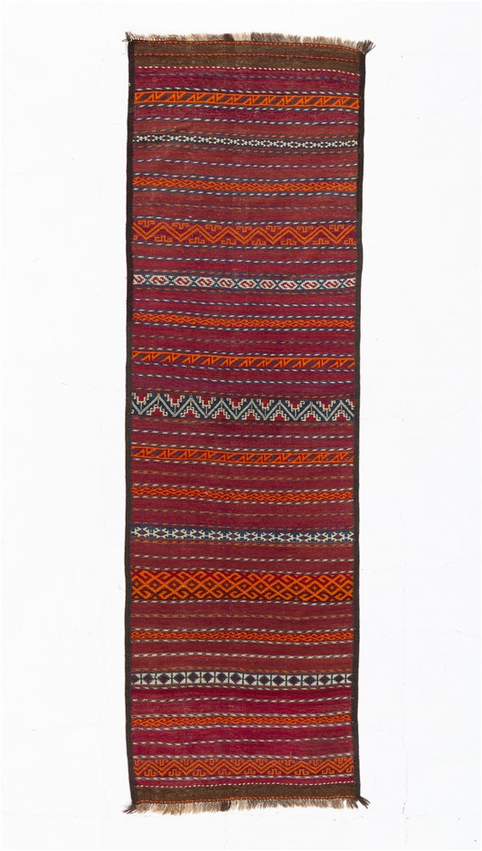 Hand Knotted Flat Weave Kilim Rug Size (cm): 74 x 250