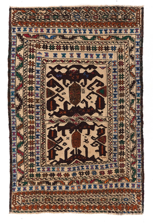 Soumak Flat Weave Hand Knotted Wool Rug Size (cm): 121 x 179