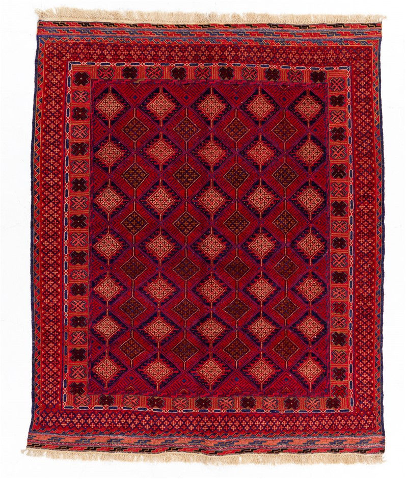 Soumak Flat Weave Hand Knotted Wool Rug Size (cm): 150 x 182