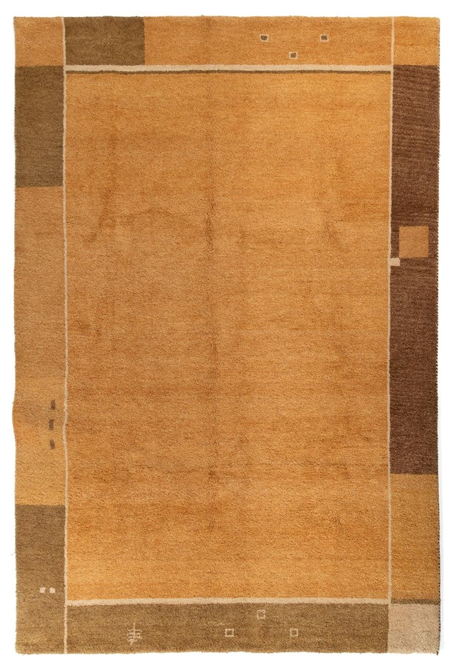 Hand Knotted Indian Gabbeh Rug - Extra Thick And Heavy Size (cm): 198 x 295