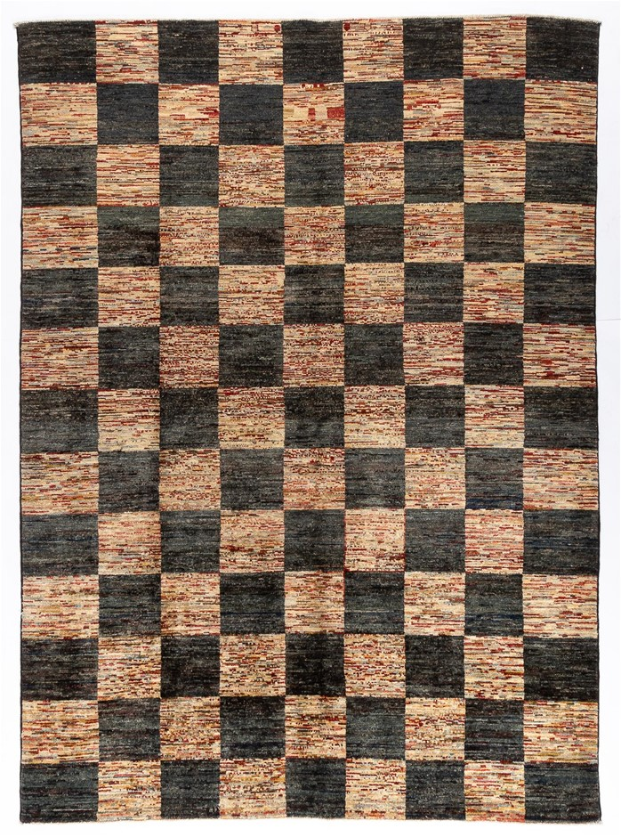 Afghan Gabbeh Strippey Design Hand Knotted Wool Rug Size (cm): 180 x 247