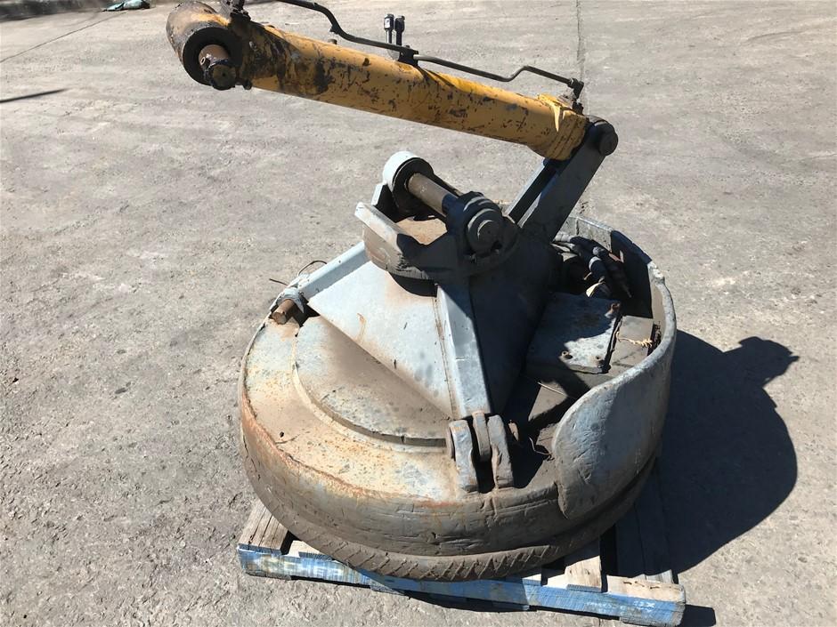 Scrap Metal Magnet 1300mm diameter Includes hydraulic cylinder