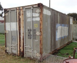 20ft refrigerated container with contents