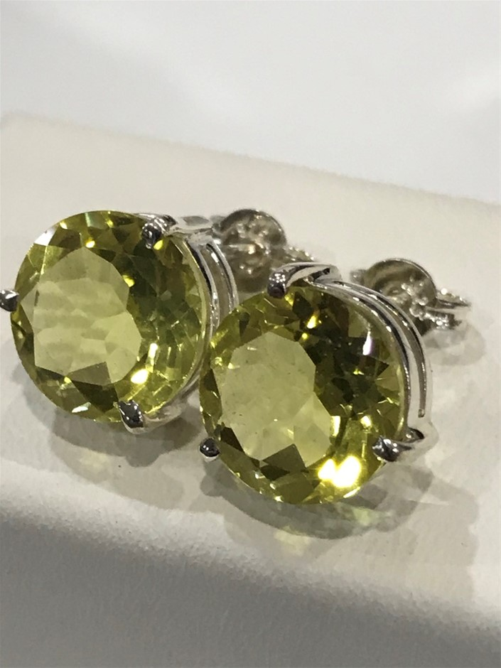 Magnificent Genuine 11.50ct Lemon Topaz Earrings