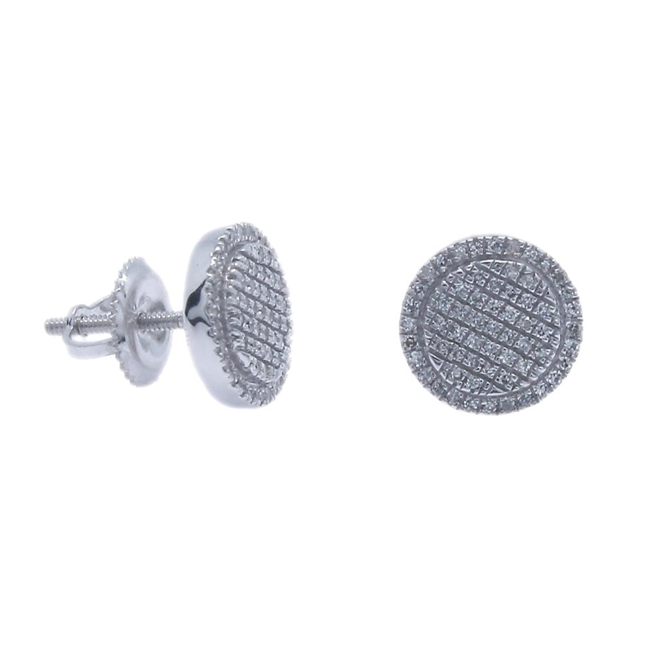 9ct White Gold, 0.19ct Diamond Earring