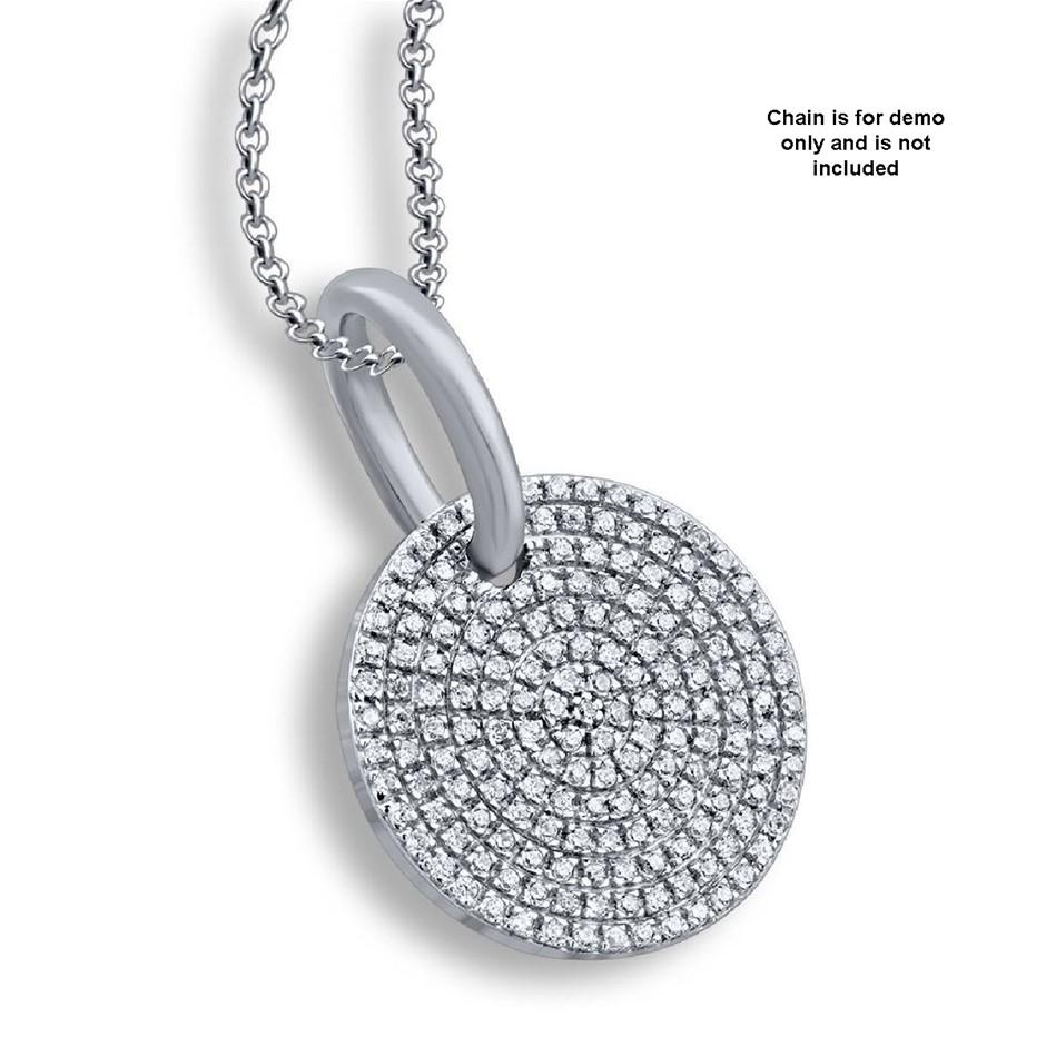 9ct White Gold, 0.24ct Diamond Pendant