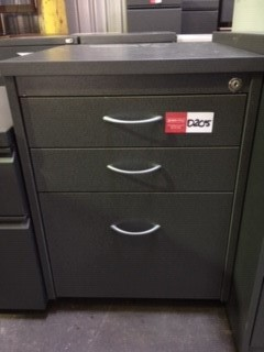 Grey Wood Under The Desk Drawers On Casters