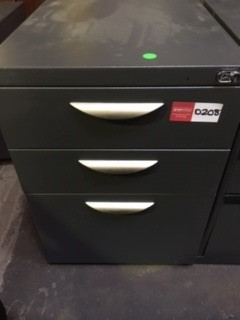 Grey Metal Under The Desk Drawers On Casters