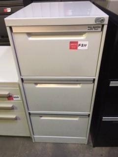 Grey Metal Filing Cabinet - 3 Drawers