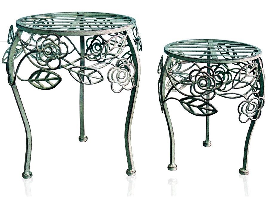 NU80625 Low Plant Stand (set of 4 - 2 x Large & 2 x Small)