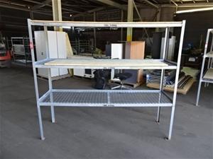 Steel Shelving Rack, 3 shelf, mesh shelv