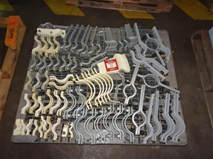 A Quantity of Pipe Clamps, steel fabrica
